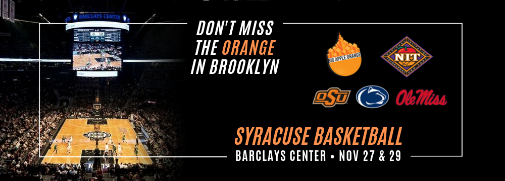 Syracuse Basketball Barclays Center 11 27 Big Apple Orange
